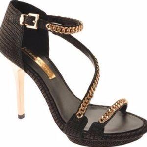 BCBGmaxazaria black gold chain Priela heels